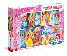 4 u 1 Progressive Puzzle 20-180 Disney Princess