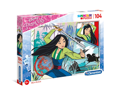 Disney Princeze Super Color Puzzle 104 Mulan